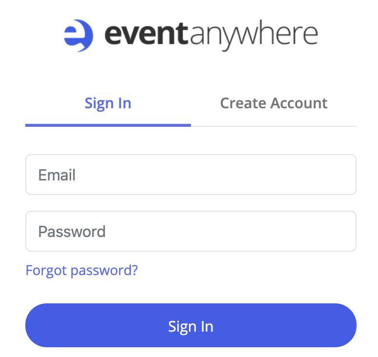 Create Event Anywhere Account