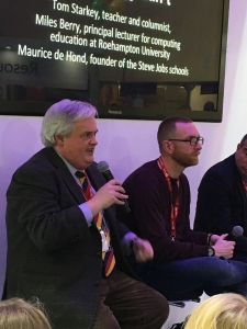 Miles Berry and Tom Starkey taking questions at BETT 2016