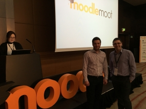 Benn Cass and Conor Gilligan at Moodle Moot Ireland and UK, London, 2016