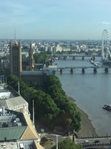 Westminster on a summers day from the Millbank Tower