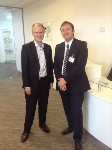 Sean Gilligan and Tom Riordan at the New Webanywhere Office opening in Leeds
