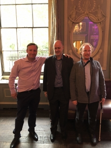 Sean with Chris Jenkins and Darren Paskell of Thomas Pocklington Trust