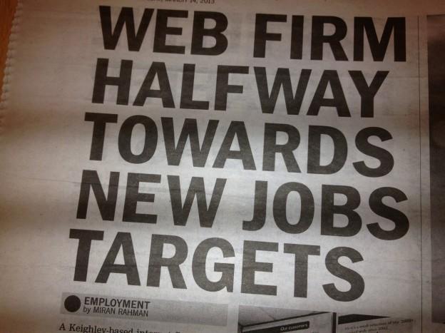 Halfway to jobs target