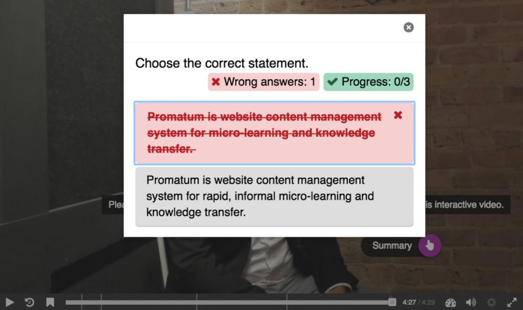 Interactive Video with Promatum