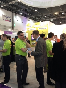 Steve Ding with Customers at the BETT SHOW